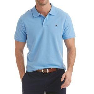 Vineyard Vines Blue Classic Pique Polo Shirt XL